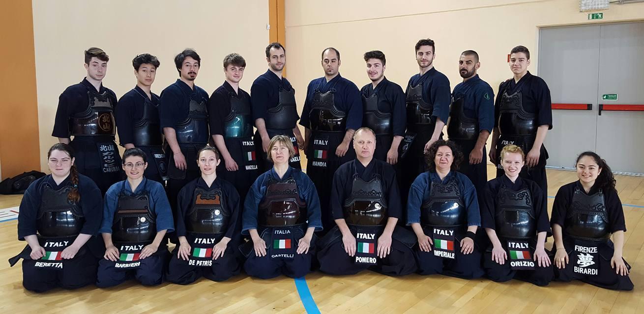 Nazionale di Kendo a Budapest 2017
